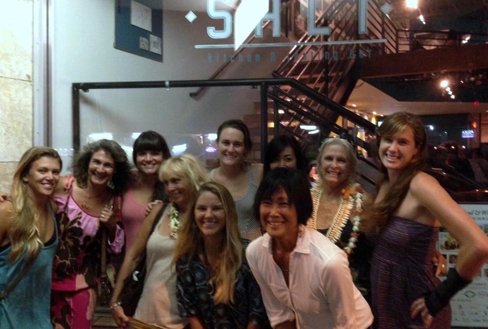 Ali, Loke, Alanna, Colleen, Kaily, Miya, Jeannie, Billie, Danielle, Jan, after camp celebrate!